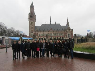 Outside the Peace Palace