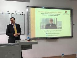 Professor Jonathan Williams presenting at Tianjin Normal University