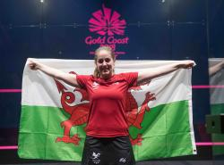 Tesni Evans at the Commonwealth Games