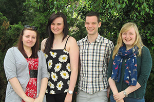 Left-right are team members: Louise Ainsworth, Kate Isherwood, Dan Taylor & Emma Dixon.