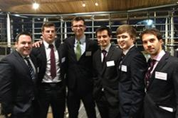 Left-Right are both School of Psychology team members: James Gilespie, Bryan Walls, James Gudgeon, Jamie Muir, William Morgan and Manuel Calatrava Conesa