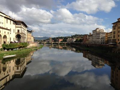 First prize: Tiffany Williams:  'Mirror image', river Arno, Florence