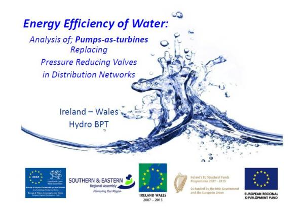Tracey Lydon's Presentation: Energy Efficiency of Water