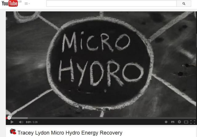Tracey Lydon: Small Hydro Energy Recovery