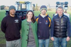 Daniel Crooks and Robert Chambers were two of the students who took part in a telethon fundraising campaign run by the Development and Alumni Office. They came along to see the new equipment with Emma Marshall, Annual Giving Officer.