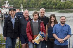 The successful Research team at the School of Ocean Sciences L-R: John Simpson, Brian Scannell, Ben Lincoln, Tom Rippeth, Natasha Lucas and Ben Powell.