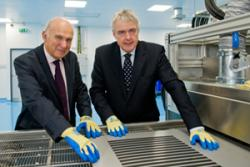 Energy Secretary Vince Cable and First Minister Carwyn Jones at the SPECIFI pilot plant recently