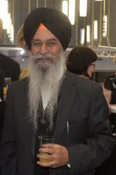 Dr Daljit Singh Virk at a reception in 2015.