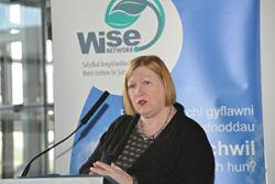 Economy Minister Edwina Hart at the Launch.