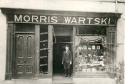 An early image of Bangor's Wartski's shop; part of the exhibition visiting the National Assembly for Wales in Cardiff.