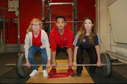 L-R: Catrin Jones, Seth Casidsid & Hannah Powell