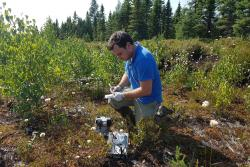 Data gathering from awetland restoration site in Canada.