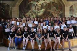 The Summer School attendees with student ambassadors and Marketing staff.