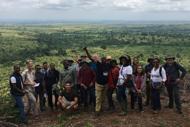 CSC scholars, staff and hosts on the MSc Tropical Forestry Study Tour in Ghana. © James Walmsley