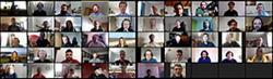 Photograph of participants at the AIMLAC virtual induction