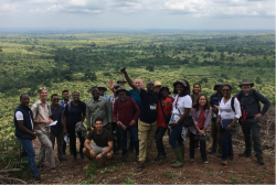 CSC scholars, staff and hosts on the Tropical Forestry Study Tour in Ghana. © James Walmsley
