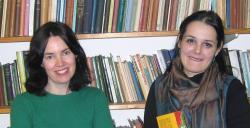 Dr Angharad Price ac Emilia Ivancu