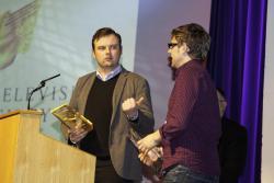 John and Mat accepting their award