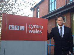 Gary Clifford, Winning in Tendering Project Manager, outside BBC Wales' Offices
