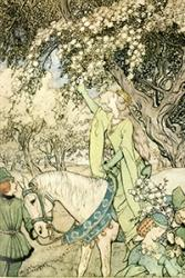The fascination with Arthurian legends has presisted throughout the centuries. This book illustration by Arthur Rackham is another from the University's collection.