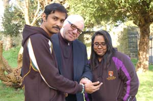 Karthikesan with mentor Chris Walker and Kala