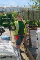 Natalie Chivers at work at RHS Chelsea Flower Show.