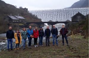 Workshop guests at Elan Valley reservoirs en route to the British Parasitological Meeting at Aberystwyth, which followed the workshop. The workshop's international guests were plenary speakers at the meeting