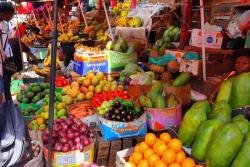 Fresh produce reaching a Ugandan market place