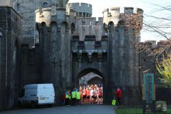 Participants at the start of a Parkrun at the National Trust's Penrhyn Castle.: Image credit: Steve Jeffery Photography