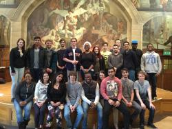 The Legal Skills students with Jake and Peter (3rd and 4th from left, back row)