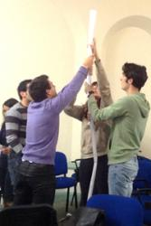 Some of the students carrying out an activity as part of the  recent launch