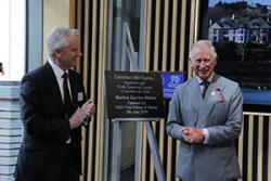 HRH The Prince of Wales officially opening the University's new Marine Centre Wales.